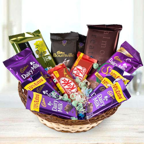Order Gift Basket of Assorted Chocos