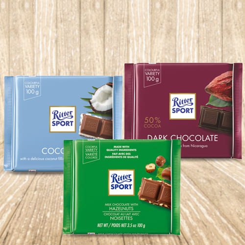 Deliver Ritter Sport Mixed Chocolates Pack