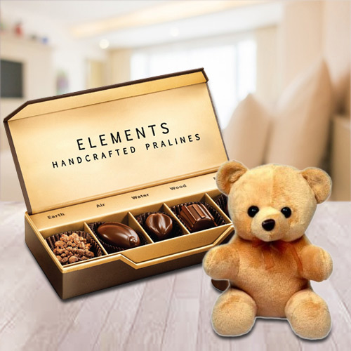 Sending Elements Chocolates from ITC with Teddy