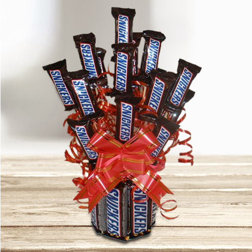 Deliver Bouquet of Snickers Chocolate