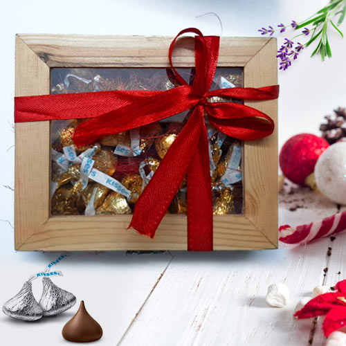 Deliver Hersheys Kisses Wooden Gift Box