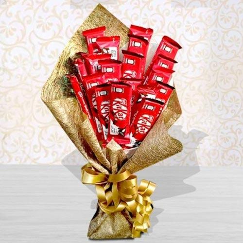 Wonderful Bouquet of Kitkat Chocolates