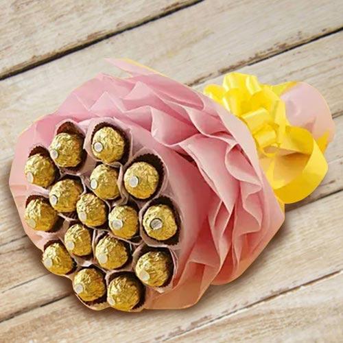 Wonderful Bouquet of Ferrero Rocher Chocolates