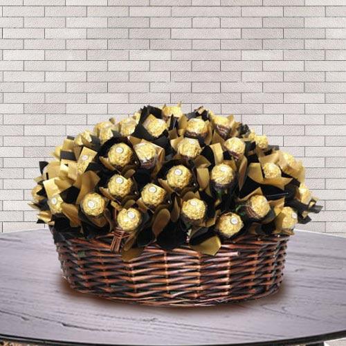 Marvelous Basket of Ferrero Rocher Chocolate