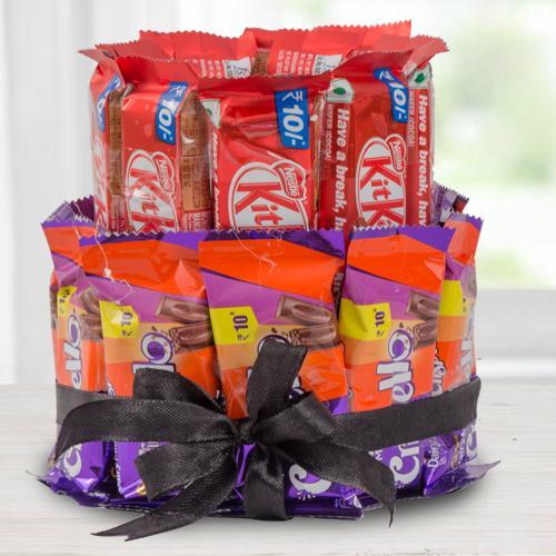 Irresistible Double Deck Arrangement of Kitkat  N  Crispello