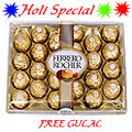 Send Ferrero Rocher 24 Pcs with free Gulal/Abir Pouch to Kerala