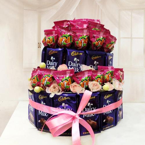 Cadbury Chocolates with Lollipop Arrangement