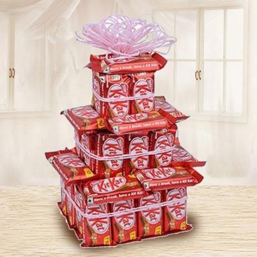 Amazing Three Tier Arrangement of Nestle Kitkat