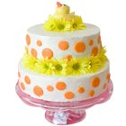 Extravagant Two-Tier Wedding Cake