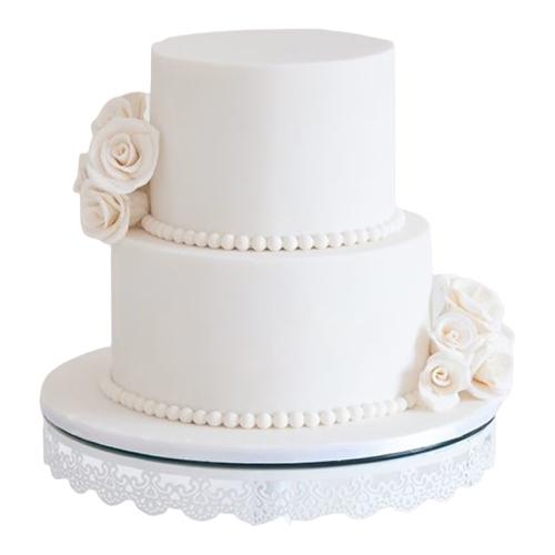 Gorgeous Two-Tier Wedding Cake