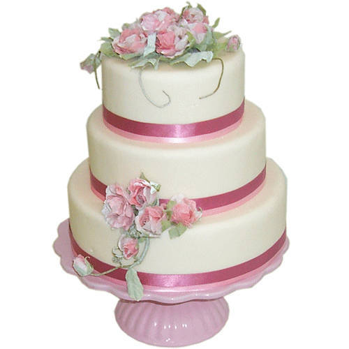 Online Order Three-Tier Weeding Cake