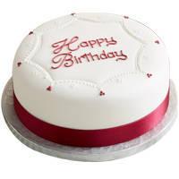 Agreeable Ambrosia Birthday Vanilla Cake