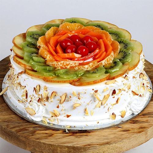 Fancy's Satisfaction 1 Kg Fresh Fruit Cake
