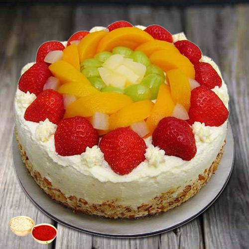 Flavor's Fondle 1 Kg Egg-less Fresh Fruit Cake