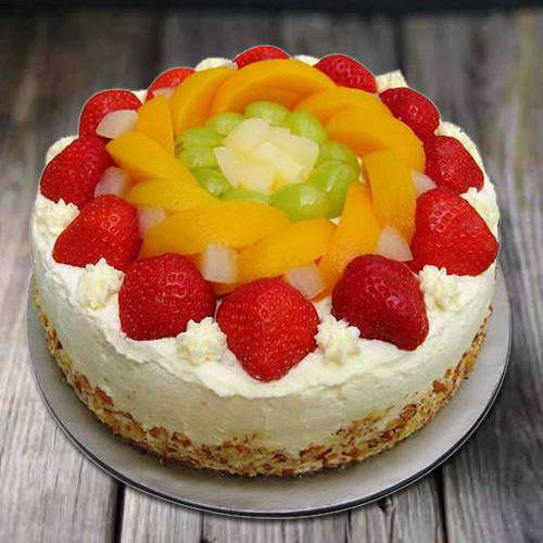 Flavor's Fondle 1 Kg Egg-less Fresh Fruit Cake