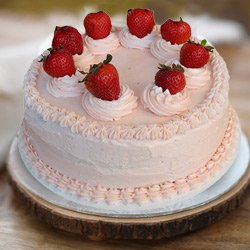 Tongue�s Pleasure 1 Lb Strawberry Cake from 3/4 Star Bakery