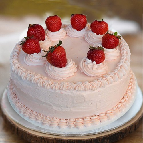 Sweet Satisfaction 1 Lb Strawberry Cake from 3/4 Star Bakery