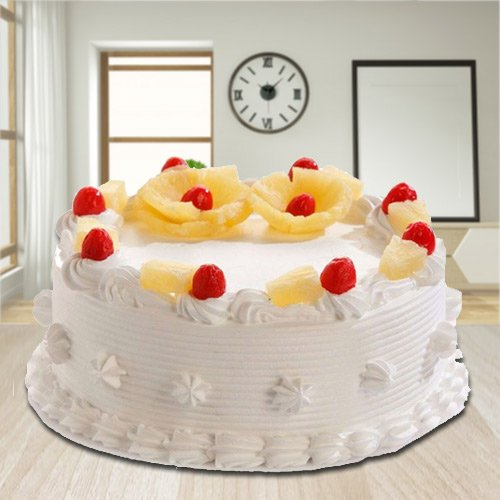 Sweet Emotion 2.2 Lbs Eggless Pineapple Cake from 3/4 Star Bakery