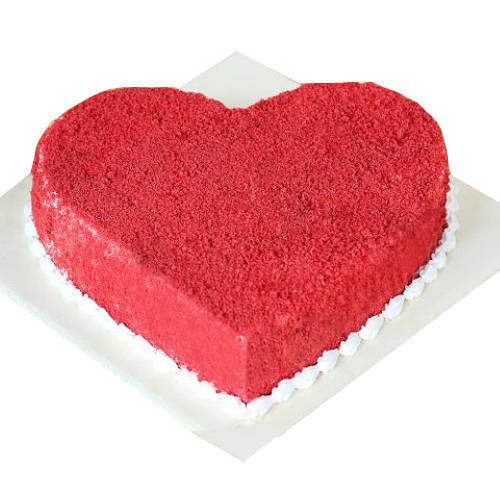 Online Heart Shape Red Velvet Cake