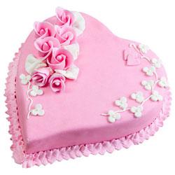 Buy Online Heart-Shape Strawberry Cake