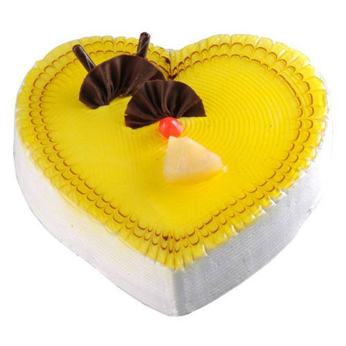 Online Gift Heart-Shape Pineapple Cake