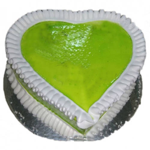Shop Online Kiwi Cake in Heart Shape