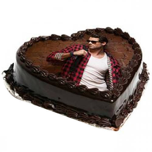 Order Heart-Shape Photo Cake Online