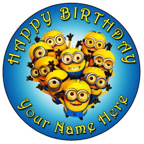Book Minions Photo Cake for Kids Online
