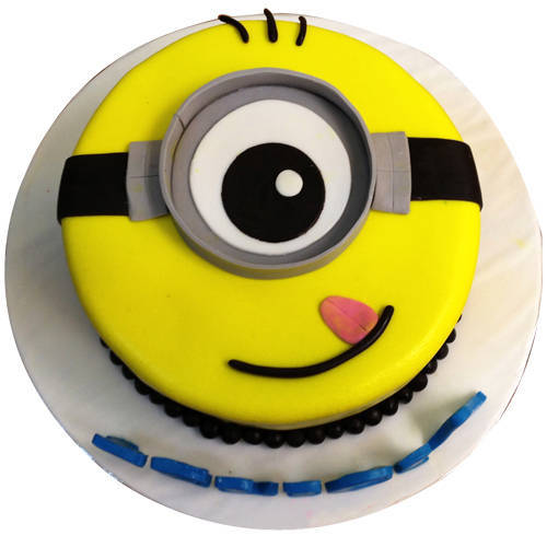 Book Kids 1 eyed Minions Fondent Cake Online