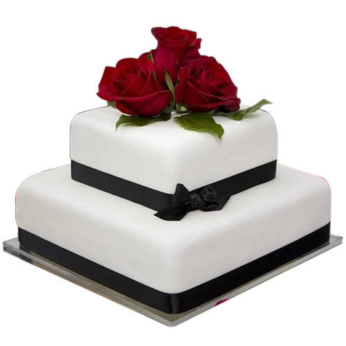 Order 2 Tier Wedding Cake Online