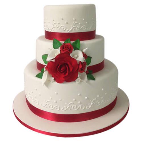 Online Gift 3 Tier Wedding Cake