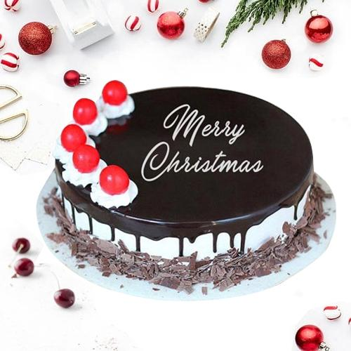 Appealing Black Forest Cake for X_Mas