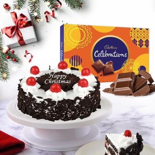 Exceptional Black Forest Cake with Chocolates for X mas