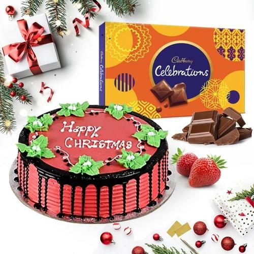 Magical Treat of Strawberry Cake with Cadbury Chocolates