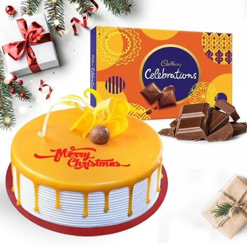 Marvelous Butterscotch Cake N Cadbury Celebrations Pack