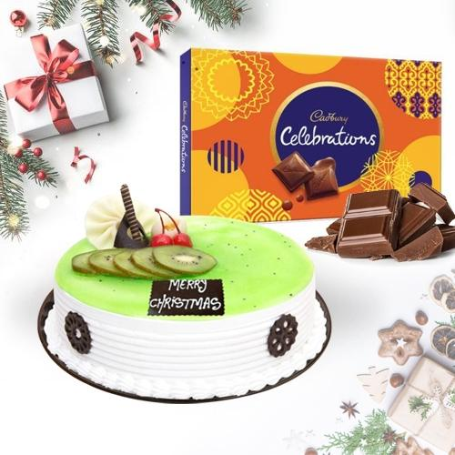 Delicious Kiwi Cake with Cadbury Celebrations Pack