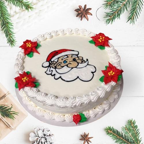 Garnished Vanilla Cake for Christmas