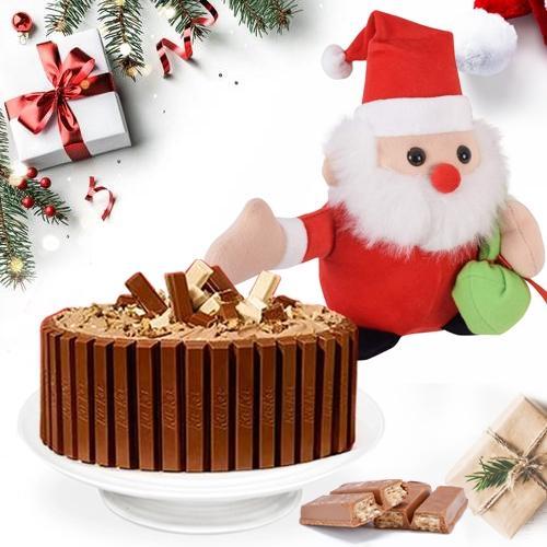 Sweet #XMas Gift Pack of Kitkat Cake with Santa