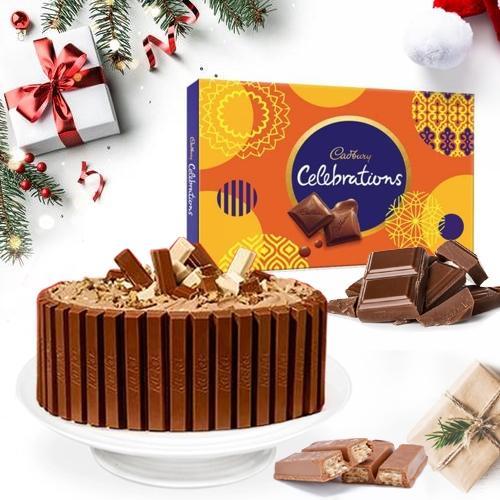 Classic Treat of Kitkat Cake with Cadbury Chocolates