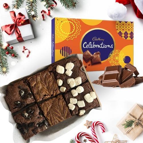 Tempting X-mas Brownies with Cadbury Chocolates