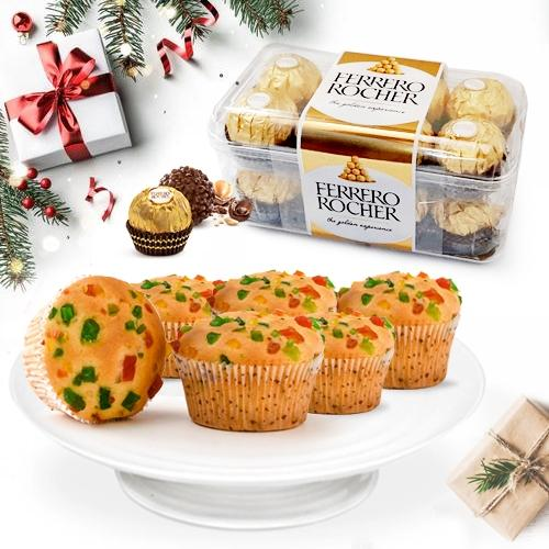 Finest Tutty Fruity Muffins with Ferrero RocherChocolates
