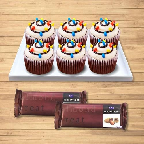 Treasured X-mas Gift of Cup Cakes with Cadbury Temptations