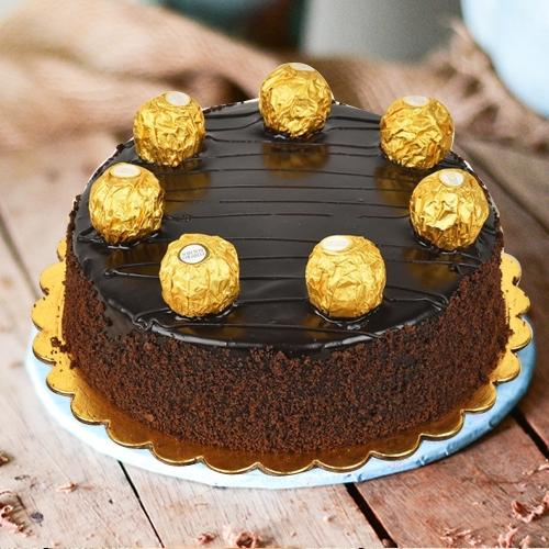 Chocolate-Coated Ferrero Rocher Cake