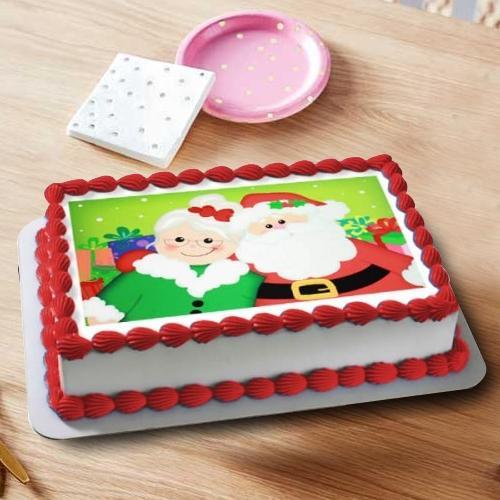 Exceptional Santa Claus Photo Cake