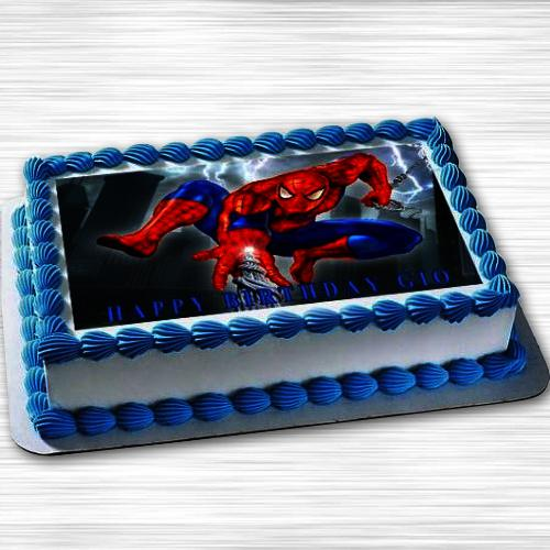 Yummy Spiderman Photo Cake