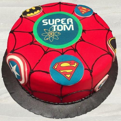 Marvelous Kids Special Super Hero Fondant Cake