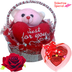 Gorgeous Love Teddy with Chocolates in a Basket