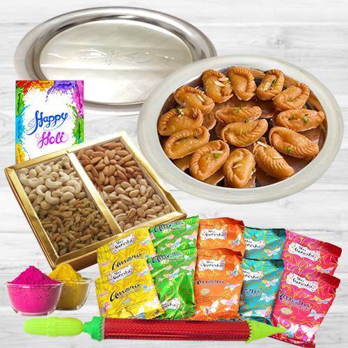 Vibrant and Smashing Holi Gift Combo Hamper