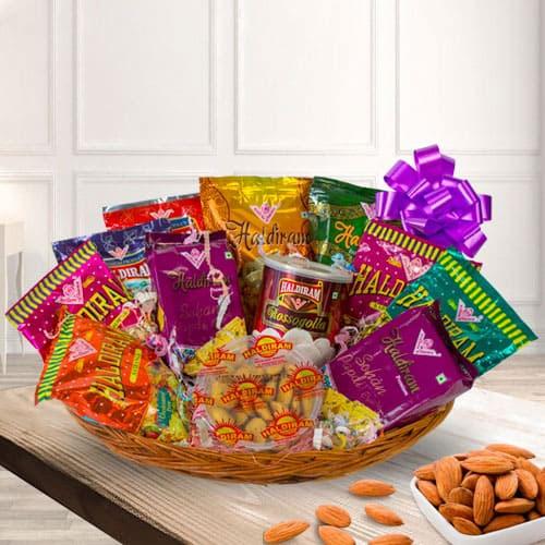 Haldirams Sweets n Snack Basket for Mothers Day