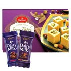 Exquisite Festive Favorite Sweets N Chocolate Gift Hamper